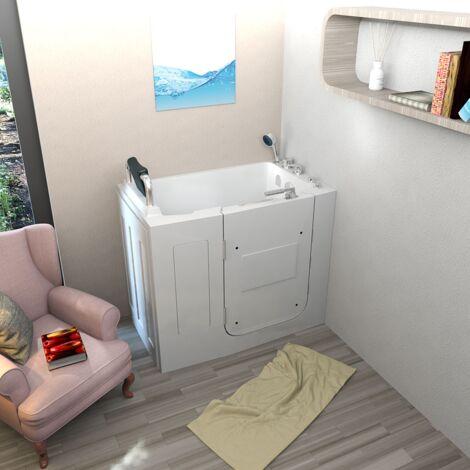 Senioren Whirlpool Seniorenbadewanne Sitzwanne Badewanne mit Tür Pool A108WP-C