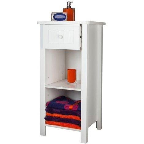 Sennen Freestanding Open Shelf Cabinet // White Scandinavian-inspired Storage for Bathroom, Bedroom, Living Room, Hallway