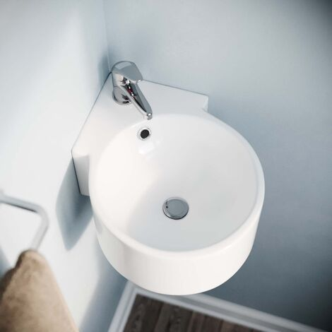 """main image of """"Senore Bathroom WC Closed Couple Toilet Wall Hung Cloakroom Basin Sink Suite"""""""