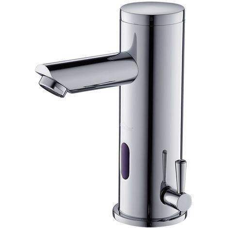 Sensor Automático Grifo de Lavabo para Comercial, Mezclador Agua Fría y Caliente Griferia de Baño