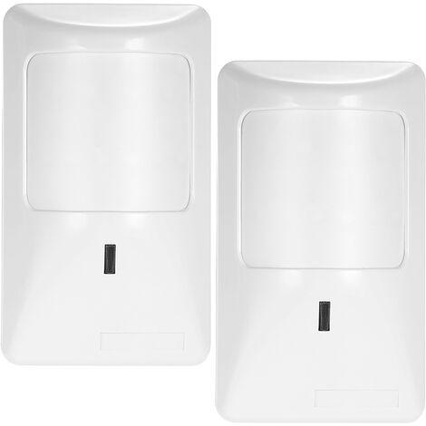 Sensor de movimiento PIR anti-mascotas, alarma con cable, detector de infrarrojos dual, 2 piezas