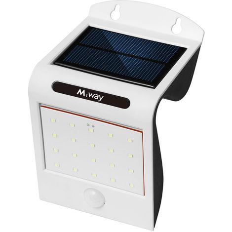 Sensor de movimiento PIR de lámpara solar de jardín para exteriores 20LED