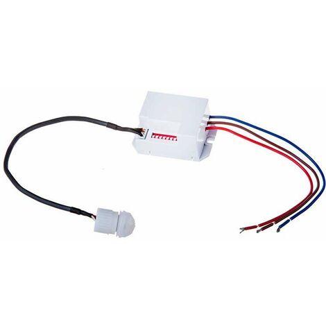 Sensor de movimiento PIR empotrable mini