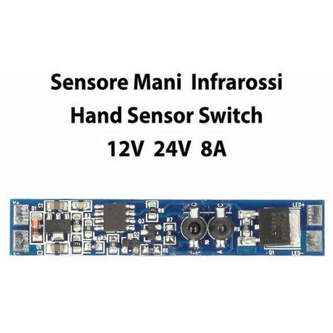 Sensore Di Movimento PIR 12V 24V 8A Per Profilo Alluminio Tempo Ritardo 40 Sec