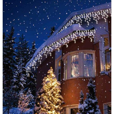 Sentik LED 17 Metre Snowing Icicle Light White (240 Lights)