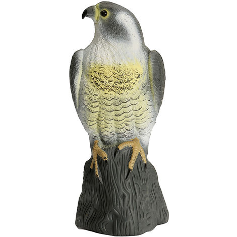 Señuelo de caza Flying Bird Fake Sparrow Hawk Garden Decor Bird Fear Garden Plastic