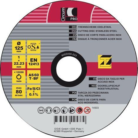 Separación acero inoxidable 125x1 mm CircumPRO
