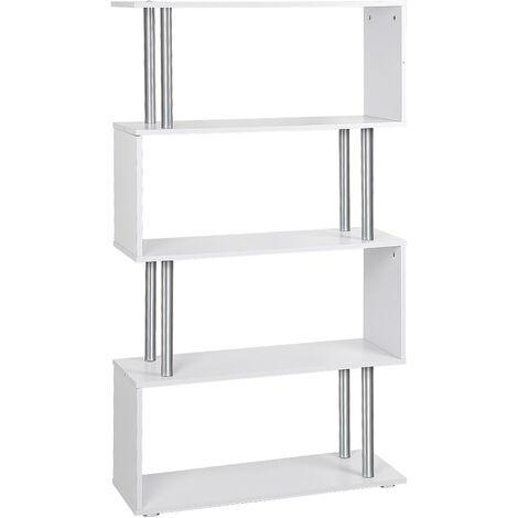 Separador de ambientes estantería estantería divisor estantería archivador 80 * 30 * 145 cm blanco