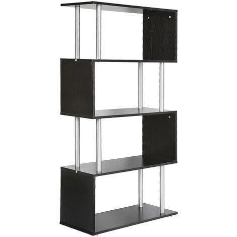 Separador de ambientes estantería estantería divisor estantería archivador 80 * 30 * 145cm negro