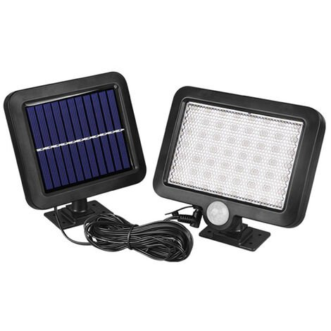 Separated Solar 56LED Induction Wall Lamp Separated Indoor and Outdoor Garage Light