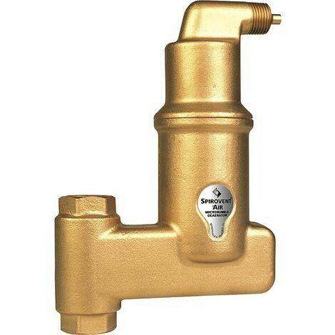 Separateur de microbulles d'air Spirovent vertical raccord a compression 22 mm