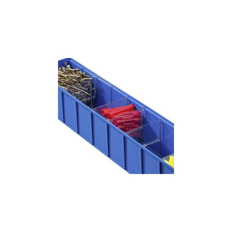 5x Stockage taille 6 transparent ProfiPlus Compact 6 Box Allit 456505 Lagerbox Set