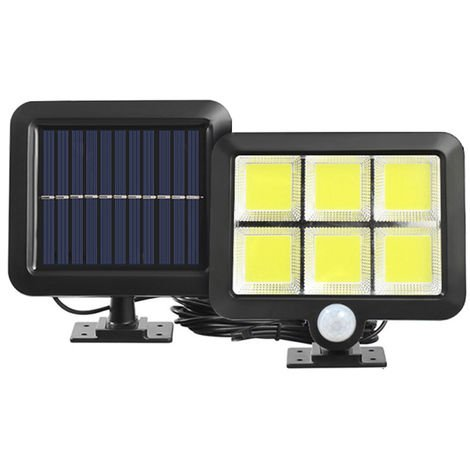 Seperated Solar Induction Wall Lamp Patio Lamp Garage Light Six Squares COB 120LED