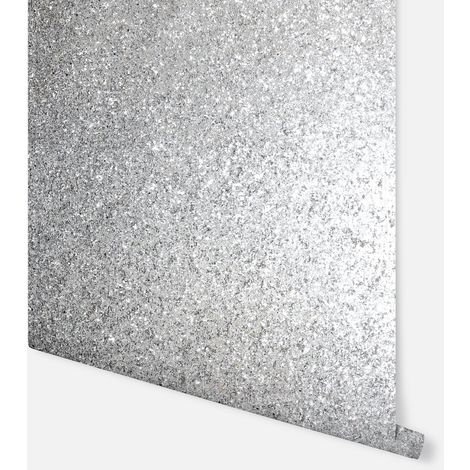 Sequin Sparkle Silver Wallpaper - Arthouse - 900900