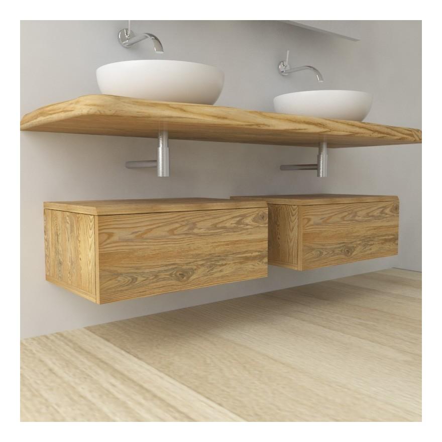 Sequoia - Mobile completo arredo bagno in legno massello | Frassino ...