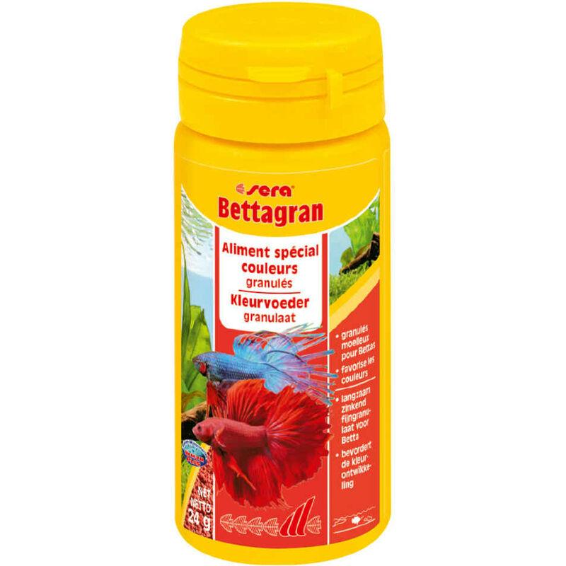 Aliments en Granulés spécial Couleurs Bettagran pour Combattants - 50ml - Sera