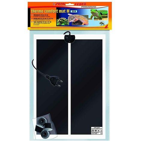 Sera - Tapis Chauffant Thermo Comfort Mat M de 28x42cm pour Terrarium - 20W