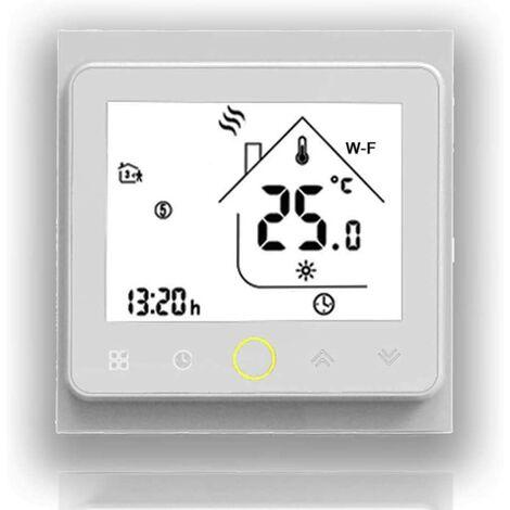 Serie 3A LCD-Touchscreen-Kesselheizung Smart Schedule Thermostat mit WIFI-Anschluss (Kesselheizung, vollweiß (WIFI))