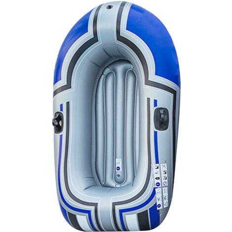 Serie De Bateaux Gonflables, Kayak Gonflable Epais, Kayak De Bateau De Peche De Voyage De Loisirs De Plein Air 150Cm (Rames Non Incluses), Bleu