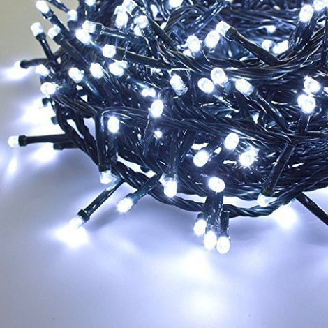Serie de Luces de Navidad Giocoplast 500 LED de color Blanco y Frío en el interior/exterior