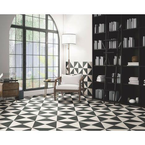 Série Fired Middle Black 20x20 (carton de 1,00 m2)