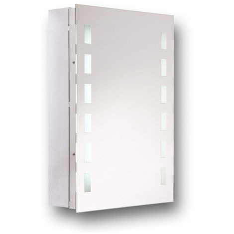 Series 4 Reflex Block Backlit Mirror Cabinet 500mm x 700mm x 110mm