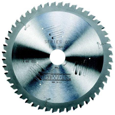 SERIES 40&reg/Diamètre de la lame:160 mm / Taille de l'alésage:20 mm / Largeur du trait de scie:2.6 mm / Nombre de dents:48 / Géométrie des dents:Denture trapézoïdale / Angle d'attaque:-5 ° / Quantité par emballage:1 / Quantité minimale de commande:1 / Ep