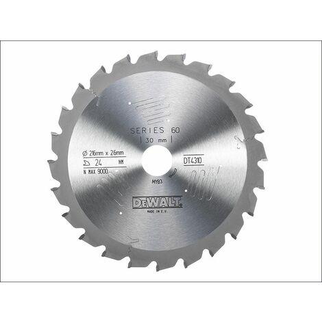 Series 60 Circular Saw Blade 216 x 30mm x 24T ATB/Neg (DEWDT4310QZ)