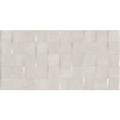 Serpentine White Décor 25cm x 50cm Ceramic Tile