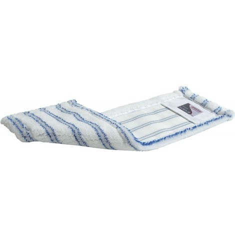 Serpillère Professionnelle en Microfibre, Premium, 40 cm blanc-bleu (Par 5)