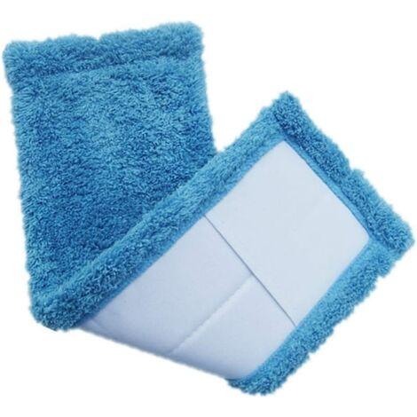 Serpillères en Microfibre Remplacement Vadrouille pour Balai 2pcs (Bleu)