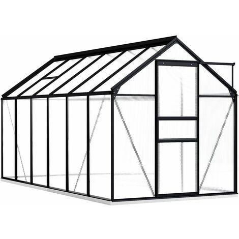 Serra con Telaio Base in Alluminio Antracite 7,03 m²