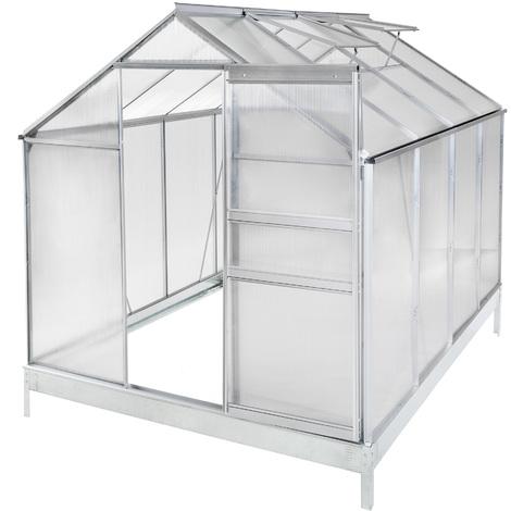 serra in alluminio e policarbonato con fondamenta