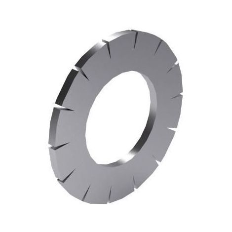 Serrated lock washer with external teeth DIN 6798 A Stainless spring steel A4 (1.4401)