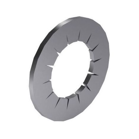 Serrated lock washer with internal teeth DIN 6798 J Spring steel Zinc plated