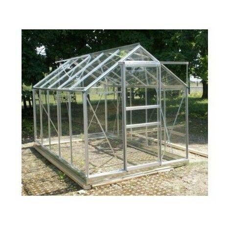 """main image of """"Serre 106 - 5,8 m² en verre trempé 4 mm - Sans Base - Aluminium naturel"""""""