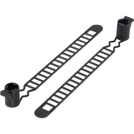 Serre-câble 120 mm x 10 mm noir TRU COMPONENTS TC-MAT-120BK203 1592781 crantage intérieur 1 pc(s) S054691