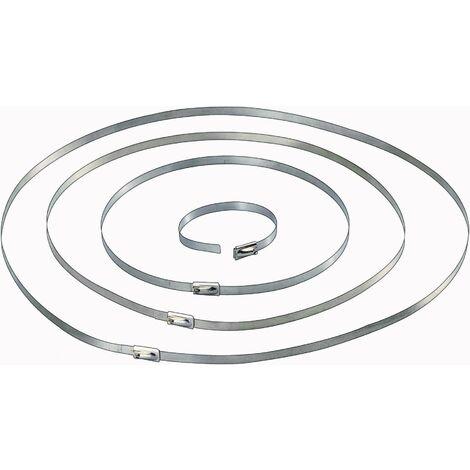 Serre-câble Conrad Components 546574 201 mm 4.60 mm argent 10 pc(s) S18341