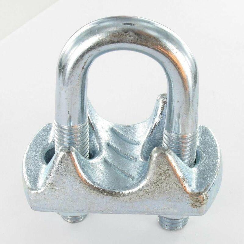 SERRE CABLE ETRIER ACIER ZING BLANC POUR CABLE 10   Conditionnement: Unitaire