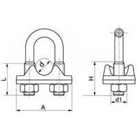 1 pc Serre-c/âble crois/é inox A4 marine 2mm