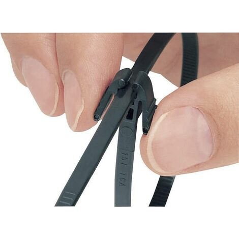 Serre-câble HellermannTyton REZ200-N66-BK-C1 115-40200 200 mm 4.70 mm noir 1 pc(s) S15676