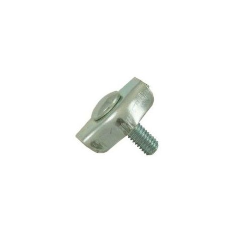 Serre-câble plat acier - 1 boulon - Diamètre : 8mm