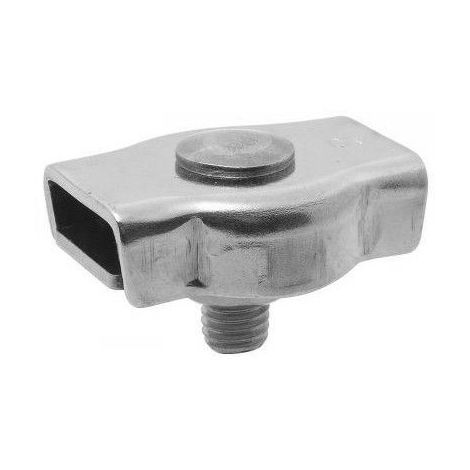 Serre-câble plat inox - 1 boulon - Diamètre : 8mm