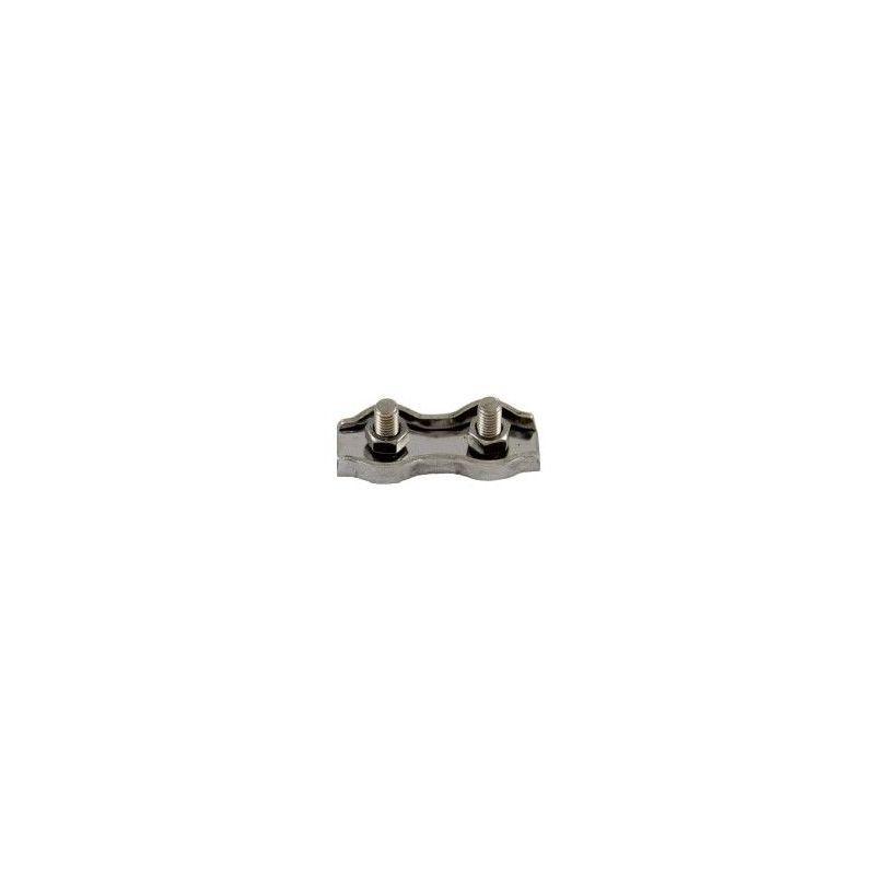 Websilor - Serre-câble plat inox - 2 boulons - Diamètre : 10mm