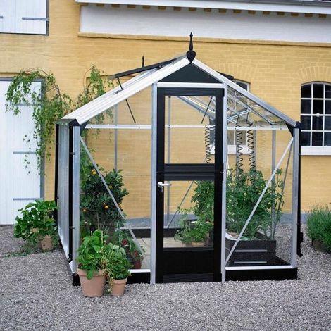 Serre Compact en verre 3 mm - JULIANA (Dimensions : 6.6 m²)