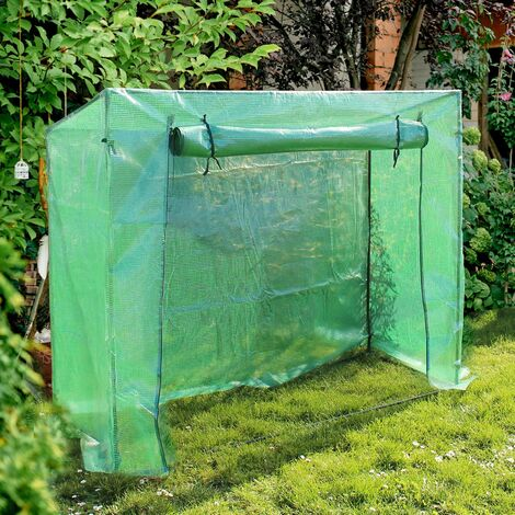 Serre de Jardin 200x77x169cm Tomate Maraîchère Aérations Porte déroulante Film Renforcé avec grille