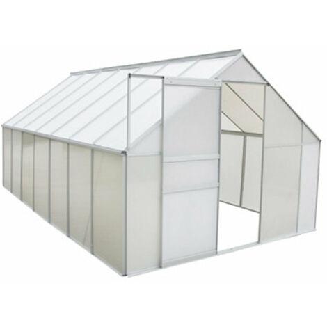 Serre de jardin aluminium et polycarbonate 10,75 m² 430 × 250 cm
