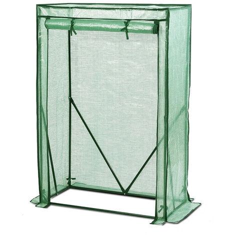 Serre de Jardin avec entrée enroulable 100 x 50 x 150 cm, Vert