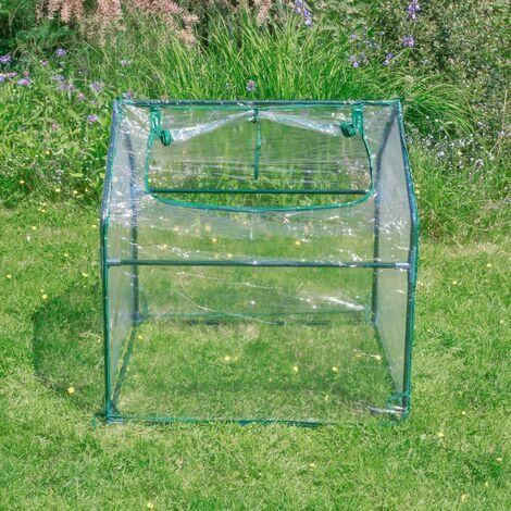 """main image of """"Serre de Jardin en Plastique - Mini Serre Jardin avec fermeture à Zip - Abri pour plante et culture ( Dimensions : 92 x 92 x 92 cm ) - Transparent"""""""