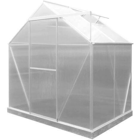 Serre de Jardin en Polycarbonate/Aluminium Lunada - 2,46 m² 125x193x190 cm avec Base 2 Modules